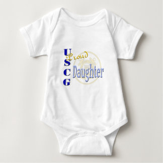 Proud USCG Daughter Baby Bodysuit