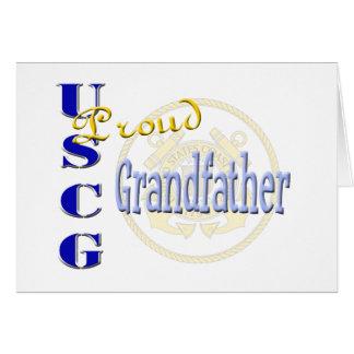 Proud USCG Grandfather Greeting Card