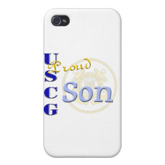 Proud USCG Son iPhone 4 Cover
