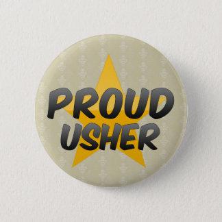 Proud Usher 6 Cm Round Badge