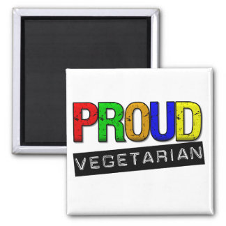Proud Vegetarian Square Magnet