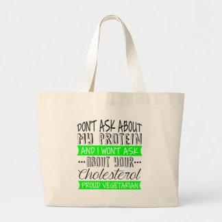proud vegetarian. bag