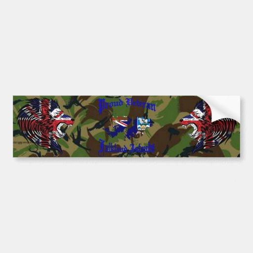 Proud veteran…. Falklands Bumper Sticker