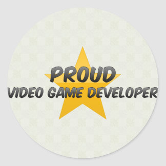 Proud Video Game Developer Classic Round Sticker