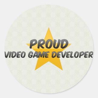 Proud Video Game Developer Round Sticker