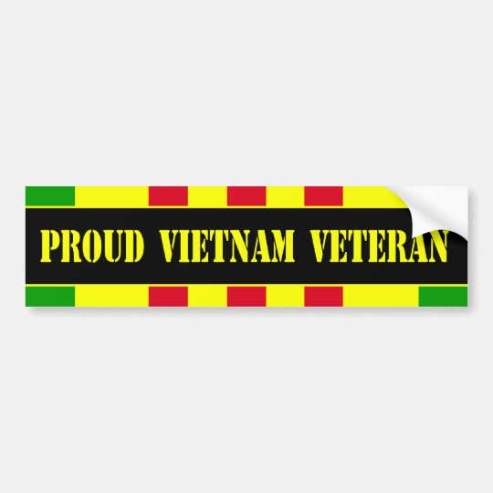 Proud Vietnam Veteran Bumper Sticker
