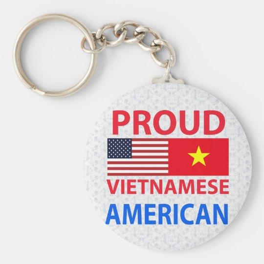 Proud Vietnamese American Basic Round Button Key Ring