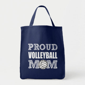 Proud Volleyball Mom grocery bag