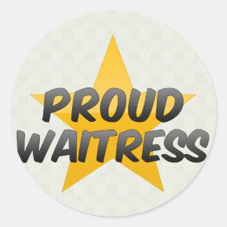 Proud Waitress Sticker