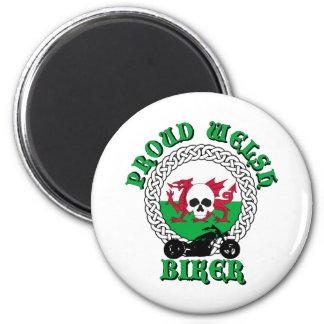 Proud Welsh Biker 6 Cm Round Magnet