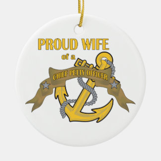 Proud Wife of a Chief Petty Officer Christmas Ornament