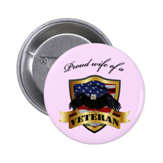 Proud wife of a Veteran 6 Cm Round Badge