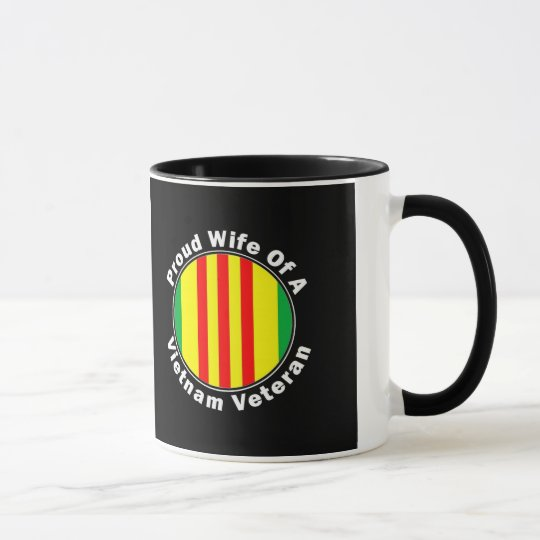 Proud Wife of A Vietnam Veteran Coffee Mug Cup