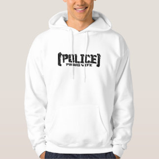 Proud Wife - POLICE Tattered Hoodie