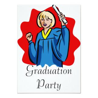Proud Woman Graduate Custom Invitations