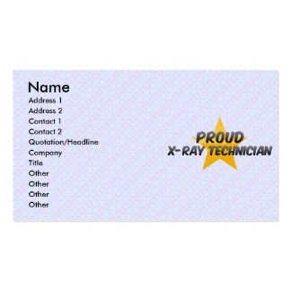 Proud X-Ray Technician Business Cards