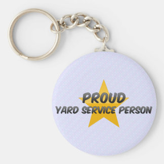 Proud Yard Service Person Key Chains