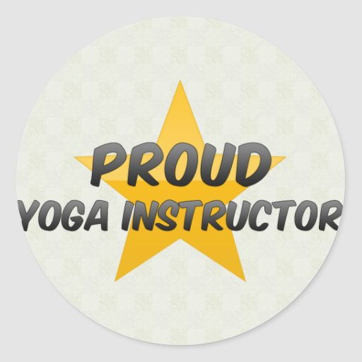Proud Yoga Instructor Stickers