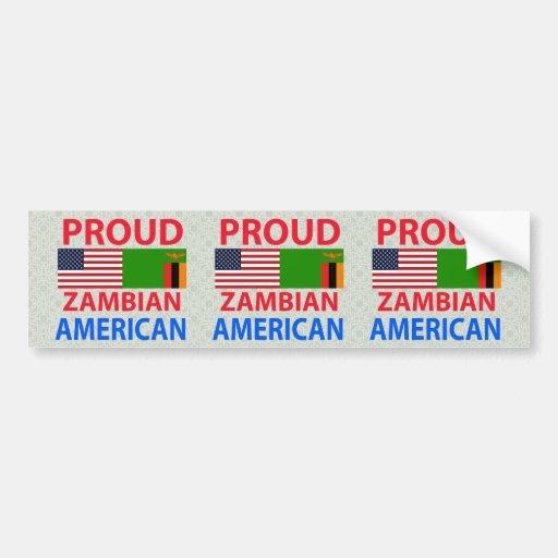 Proud Zambian American Bumper Stickers