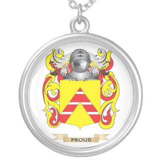 Proude (Co Kent) Coat of Arms (Family Crest) Personalized Necklace