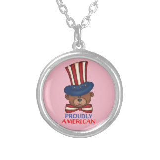 "Proudly American""Necklace Silver Plated Necklace"