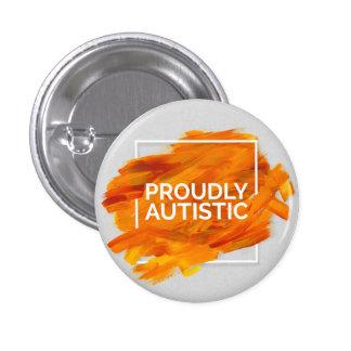 Proudly Autistic (Orange) 3 Cm Round Badge