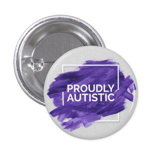 Proudly Autistic (Purple) 3 Cm Round Badge