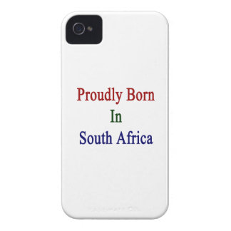Proudly Born In South Africa iPhone 4 Cases