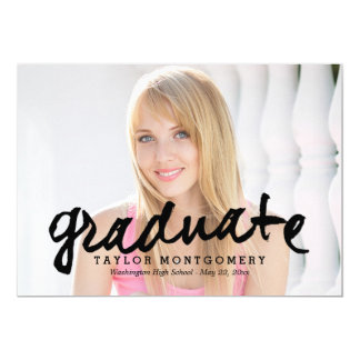 Proudly Brushed Graduation Announcement - Black