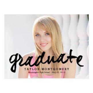 Proudly Brushed Graduation Announcement/Invitation Postcard