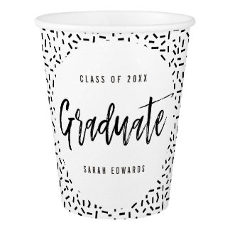 Proudly Brushed Graduation Party Paper Cup
