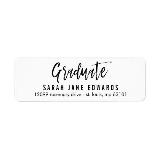 Proudly Brushed Graduation Return Address Label