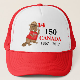 Proudly Canadian Beaver 150 Anniversary Trucker Hat
