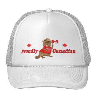 Proudly Canadian Beaver Trucker Hats