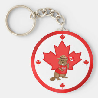 Proudly Canadian Beaver Key Ring
