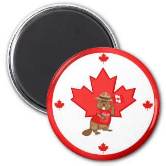 Proudly Canadian Beaver Magnet