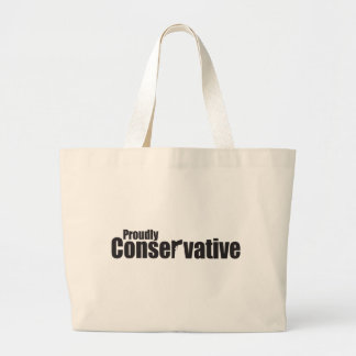 Proudly Conservative Jumbo Tote Bag