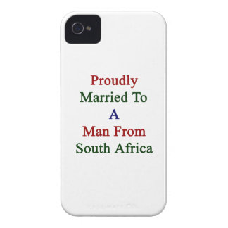 Proudly Married To A Man From South Africa iPhone 4 Case-Mate Case