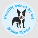 Proudly Owned by a Boston Terrier Sticker