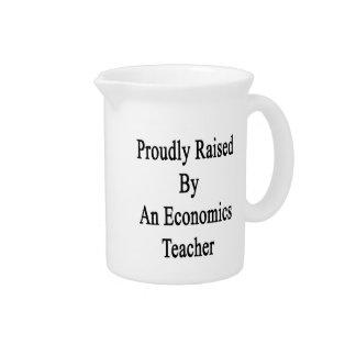 Proudly Raised By An Economics Teacher Beverage Pitchers