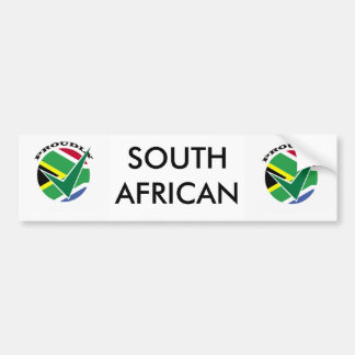 Proudly South African Bumper Sticker