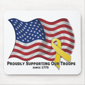 Proudly Supporting Our Troops Mousepad