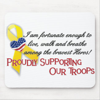 Proudly Supporting Our Troops(version2) Mouse Pads