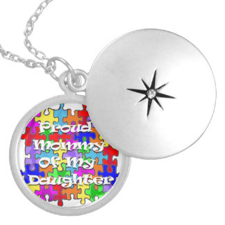 Pround Mommy Of My Daughter - Autism Necklace
