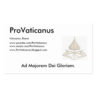 ProVaticanus Schedula Double-Sided Standard Business Cards (Pack Of 100)