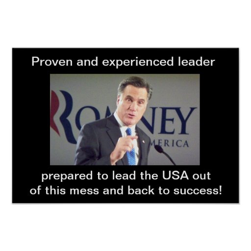 Proven and experienced leader prepared to lead the posters