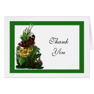 Provencal Butterfly Floral III Thank You Note Note Card