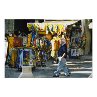 Provencal fabrics, Cours Mirbeau, Provence Poster