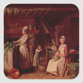 Provencal Kitchen Square Sticker