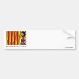 Provence-Alpes-Côte-d'Azur waving flag with name Bumper Sticker